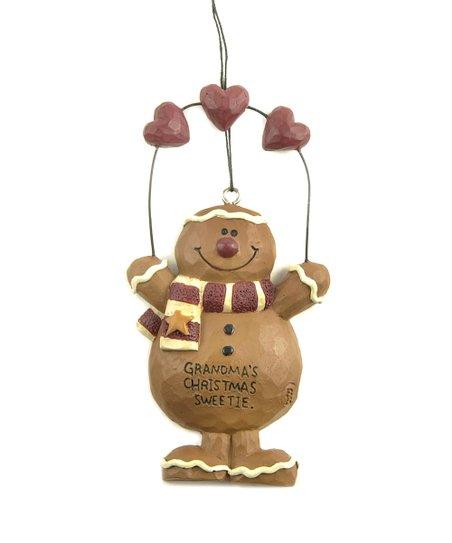 'Grandma's Christmas Sweetie' Gingerbread Figurine Ornament