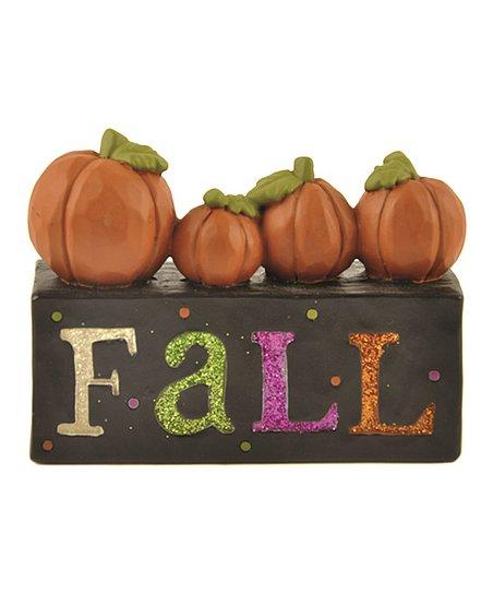 'Fall' Pumpkin Block Sign