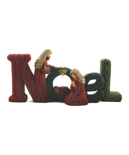 'Noel' Nativity Scene Sign