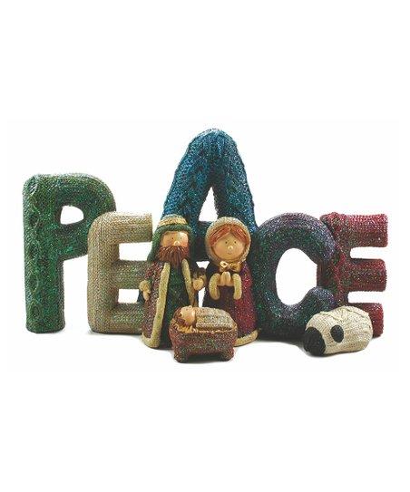 'Peace' Nativity Scene Sign