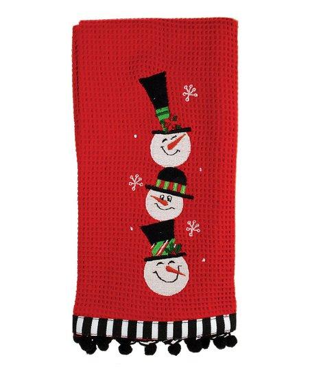 Snowman Family Dish Towel