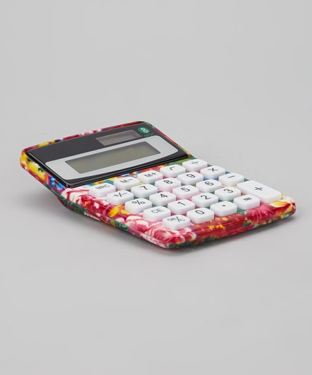 Pink Floral Calculator
