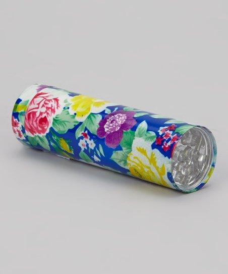 Blue & Purple Floral LED Flashlight