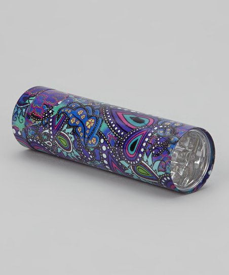 Blue & Purple Paisley LED Flashlight