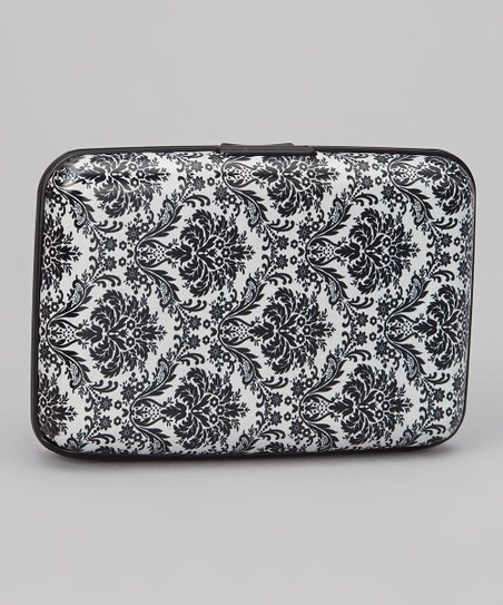 Black & White Damask Armored Wallet