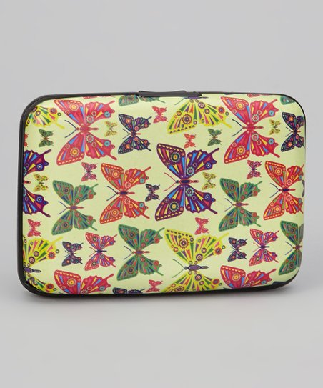 Yellow & Green Butterfly Armored Wallet