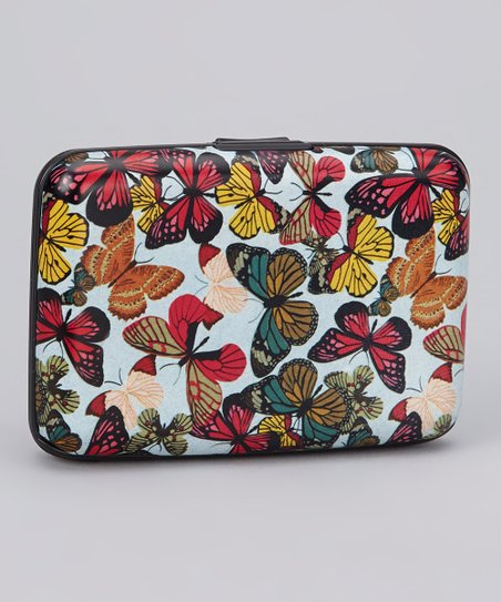 White & Red Butterfly Armored Wallet