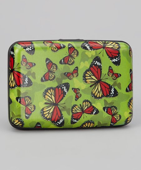 Green & Yellow Butterfly Armored Wallet