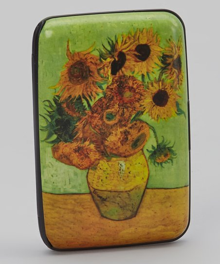 Green & Yellow Sunflowers Armored Wallet
