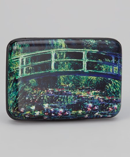 Blue & Green Lily Bridge Armored Wallet