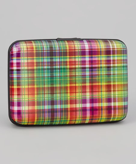 Pink & Green Plaid Armored Wallet