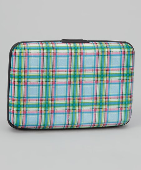Blue & Green Plaid Armored Wallet