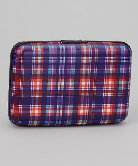 Purple & Red Plaid Armored Wallet