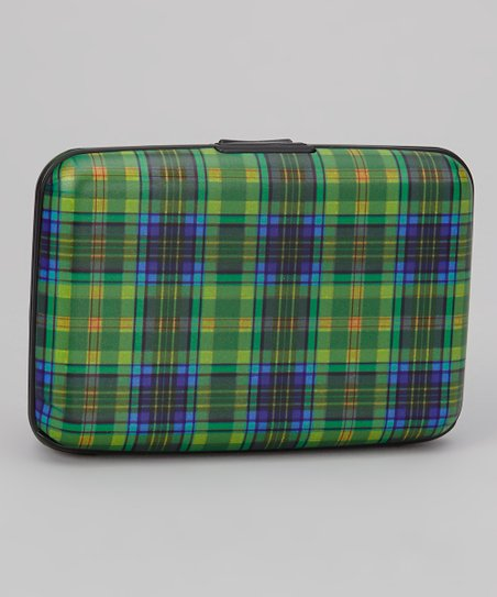 Green Plaid Armored Wallet