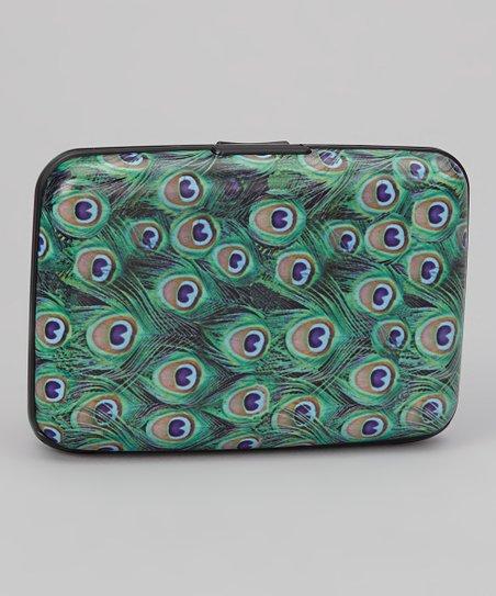 Green Peacock Armored Wallet