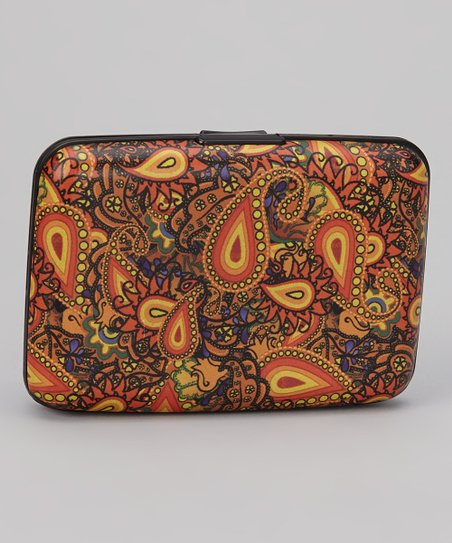 Gold & Orange Paisley Armored Wallet