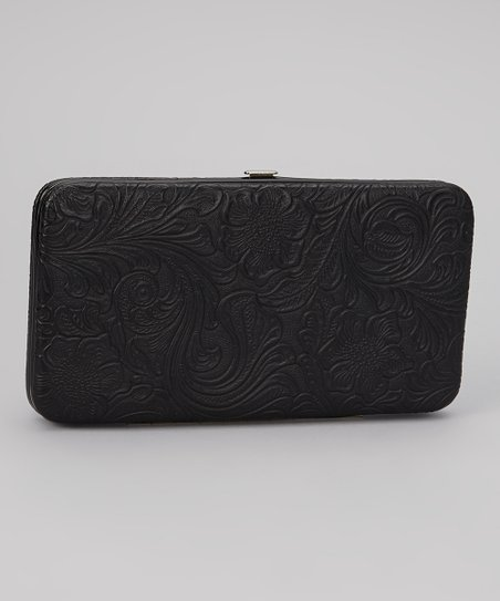 Black Tooled Armored Clutch