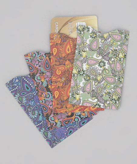 Paisley Assortment Armored RFID Credit Card Sleeve Set