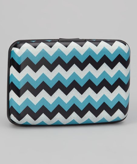 Blue & White Zigzag Armored Wallet