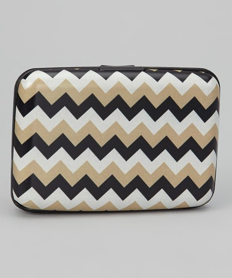 Brown & White Zigzag Armored Wallet