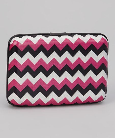 Pink & White Zigzag Armored Wallet