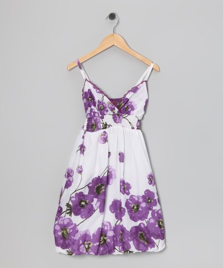 Purple Poppy Bubble Dress - Girls