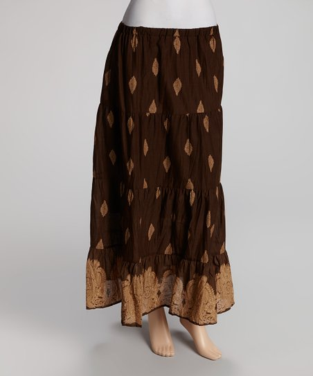 Sand & Chocolate Maxi Skirt - Women