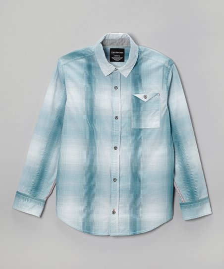 Slate Plaid Button-Up - Infant