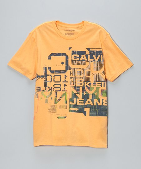 Orange Glitch Logo Tee - Boys