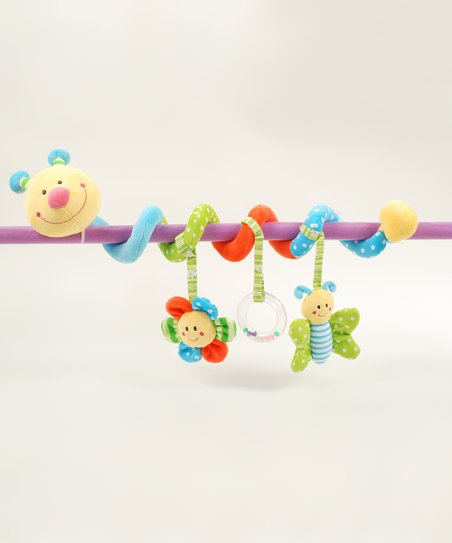 Blue Caterpillar Stroller & Crib Activity Toy