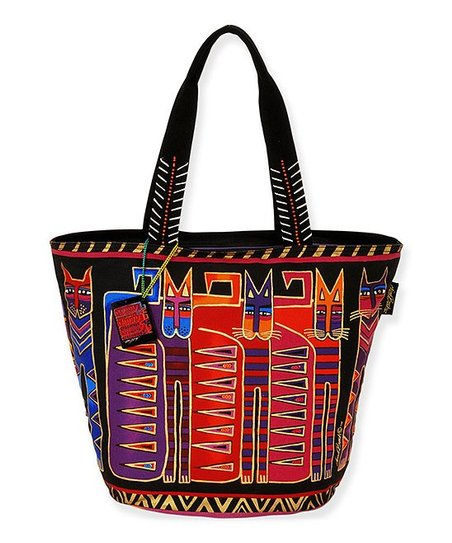 Black & Orange Egypticats Tote