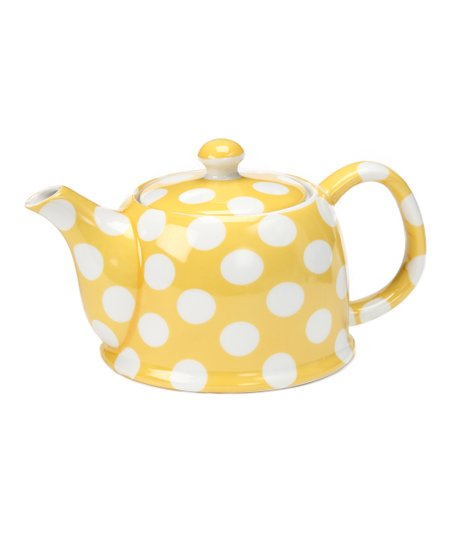 Yedi Houseware Banana Yellow Polka Dot Teapot