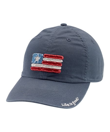 True Blue Tattered Flag Chill Baseball Cap