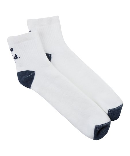 Cloud White 'Life Is Good' Quarter-Length Socks - Men