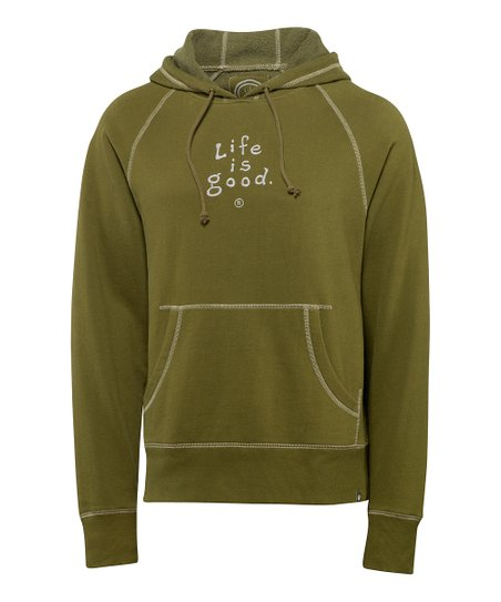 Simply Dark Green Softwash Hoodie - Men