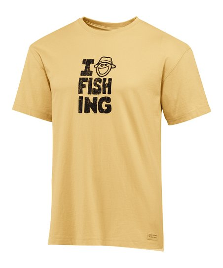 Classic Gold 'I Jake Fishing' Crusher Tee - Men