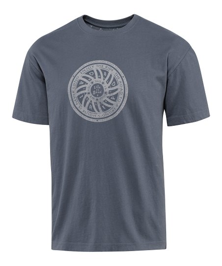 True Blue Wheel 'Round Creamy Tee - Men