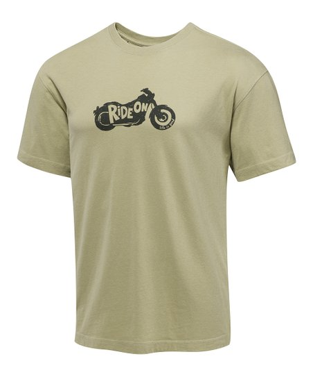 Light Green Silo Ride On Creamy Tee - Men
