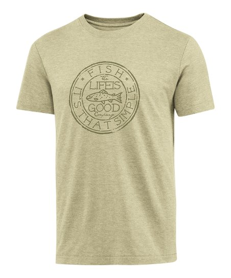 Light Green Medallion Fish Cool Tee - Men