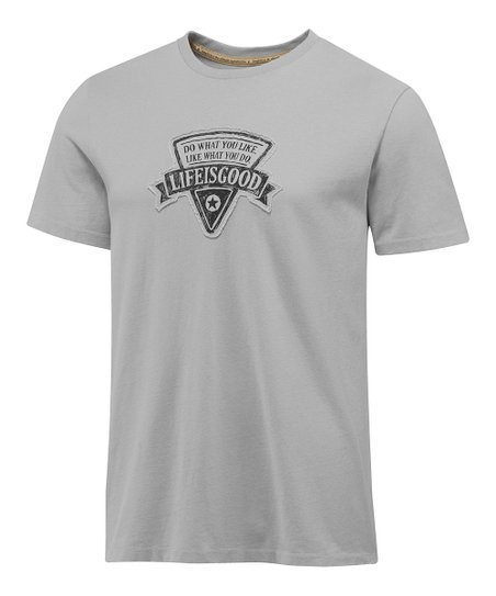 Simply Gray Logo Star Patch Topnotch Tee - Men