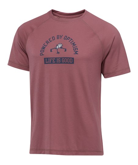 Burgundy Pushup Vital Tee - Men