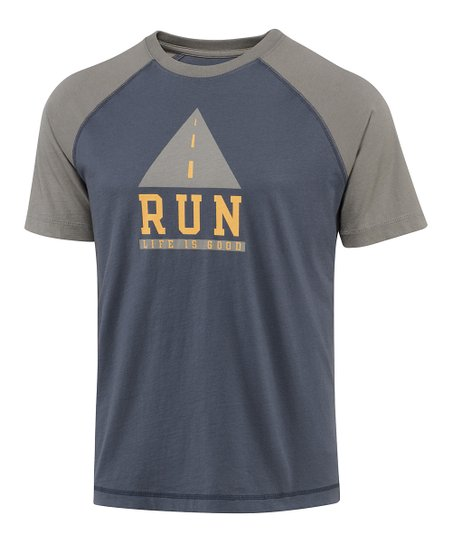 True Blue Run Iconic Raglan Tee - Men