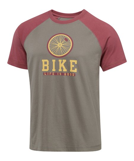 Warm Gray Bike Iconic Raglan Tee - Men
