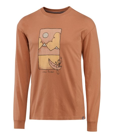 Light Copper Vista Canoe Organic Long-Sleeve Tee - Men