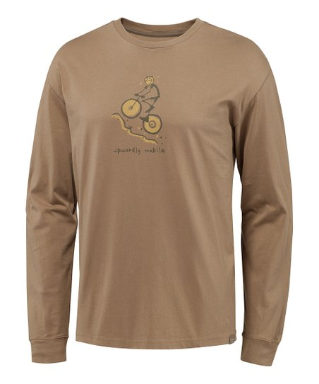 Simple Light Brown Bike Simplify Organic Long-Sleeve Tee - Men