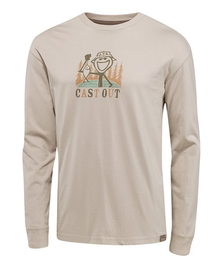 Simply Steel Cast Out Organic Long-Sleeve Tee - Men