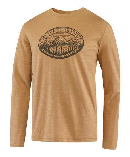 Golden Mountain Folklore Organic Long-Sleeve Tee - Men