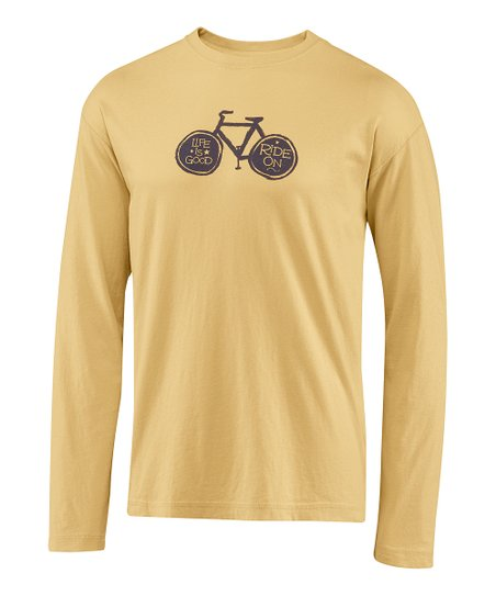 Classic Gold Bike Fundamental Creamy Long-Sleeve Tee - Men