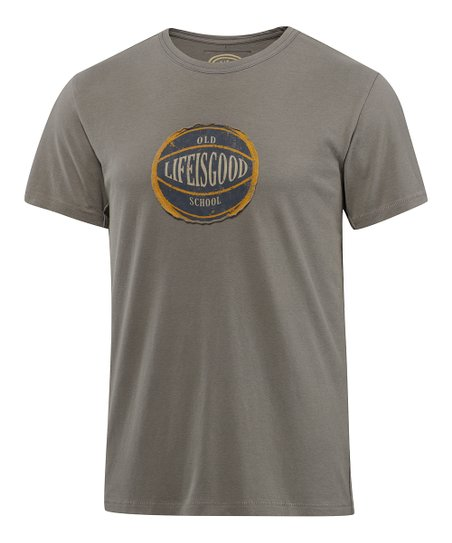 Warm Gray Old School Basketball Epic Tee - Men