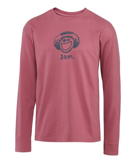 Burgundy Jake Jam Crusher Long-Sleeve Tee - Men